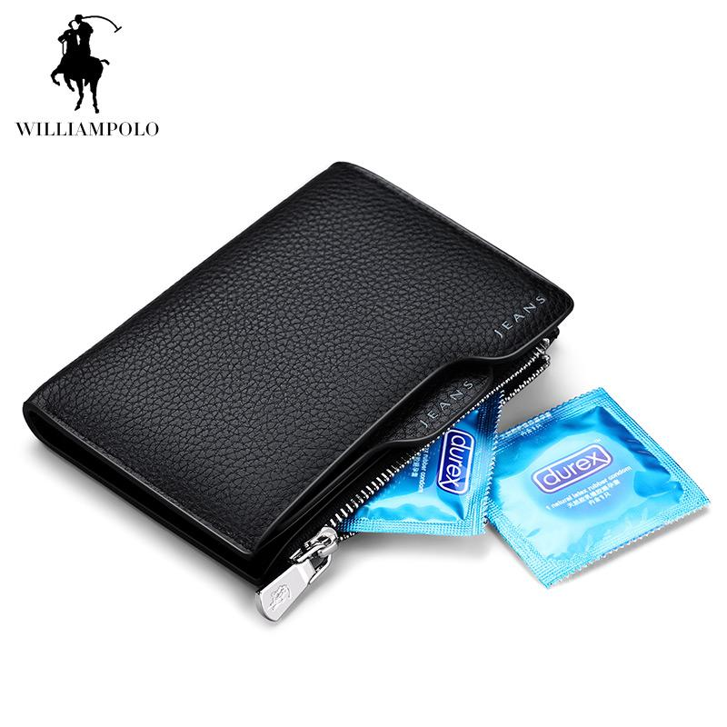 wholesale halloween time limited sell williampolo 2017 genuine leather driving license wallet calfskin leather pattern wallet men pl146 french wallet white