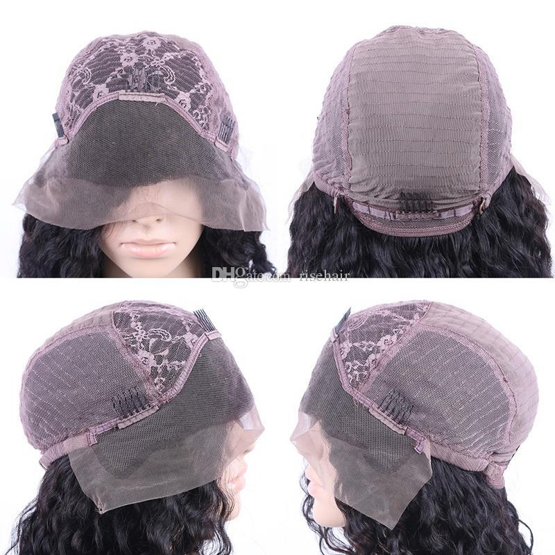 Cheap Italian Yaki Glueless Full Lace Human Hair Wigs For Black Women Brazilian Virgin Remy Kinky Straight Lace Front Wigs