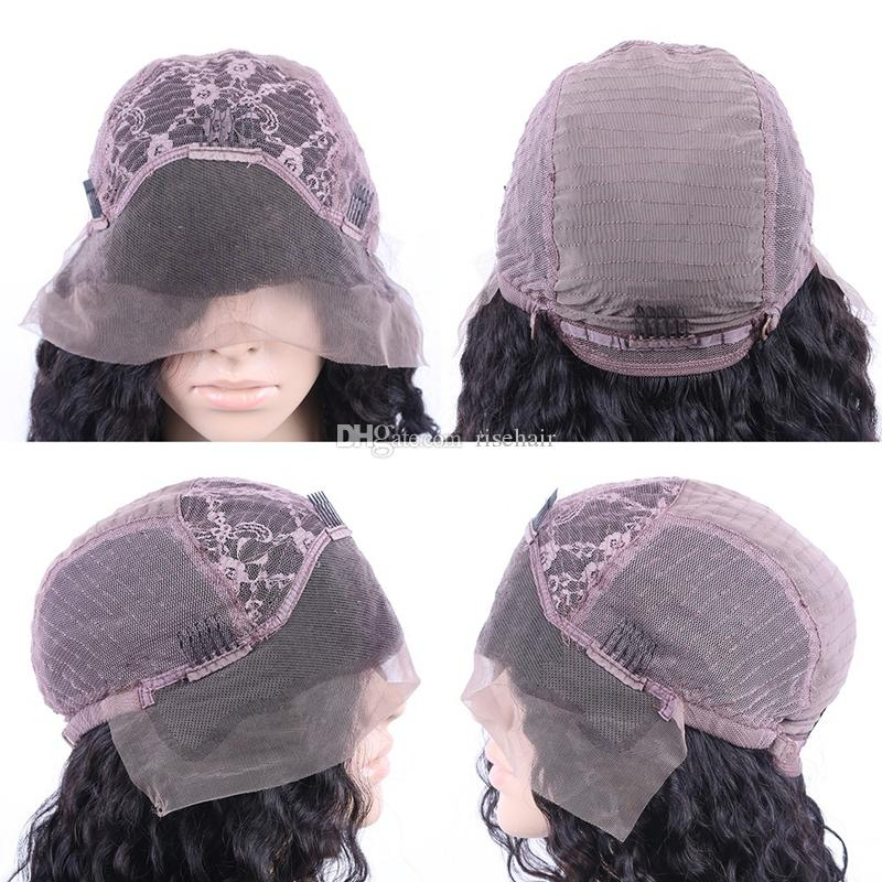 Kinky Curly With Bangs Malaysian Human Hair Silk Base Wig Lace Front Wig Curly 5*4.5'' Silk Top Glueless Full Lace Wig