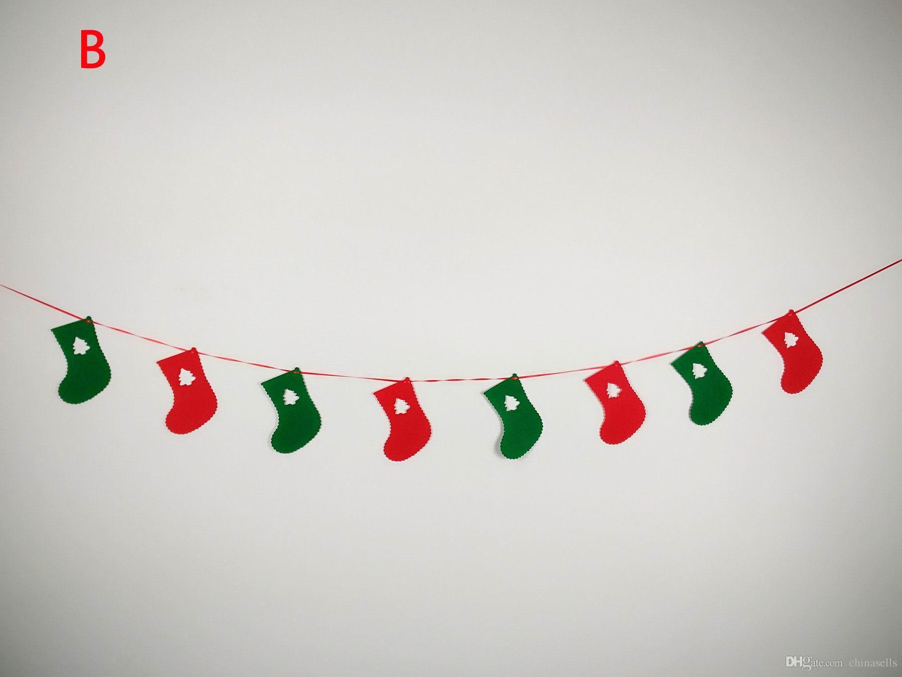 Xmas ağacı Süsler asmak bira çorap kardan adam Afiş pencere Pazarı merkezi Noel Partisi DIY Süslemeleri 3 M Çekme çiçekler