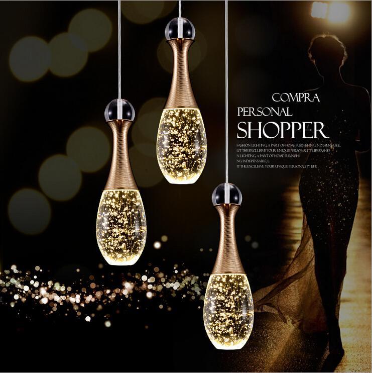 Lampadario moderno del ristorante di Brief del LED Breeze di cristallo breve del pendente barra luminosa del lavoro Lampade dei lampadari del salone Lampade del dispositivo di illuminazione