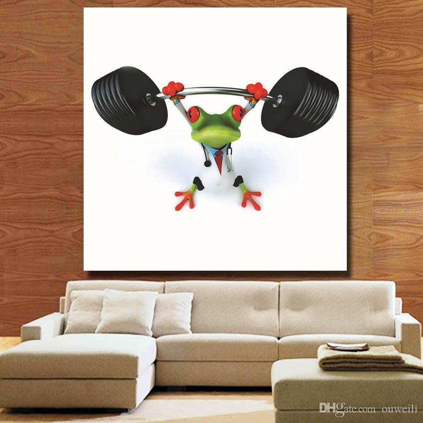 2016 new design modern home decor hand painted cartoon frog oil painting animated frog pictures