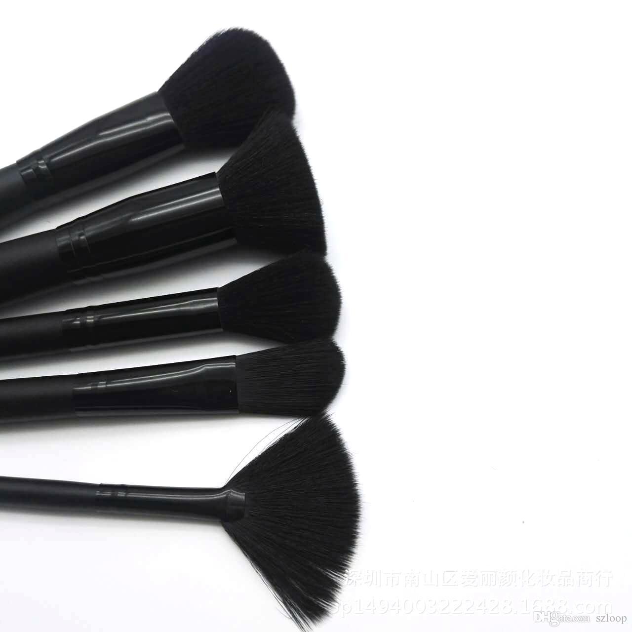 مؤسسة / مجموعة ELF بنية فرشاة مجموعة كريم الوجه السلطة فرش متعددة الأغراض أداة الجمال مستحضرات التجميل مجموعة فرش 3001085
