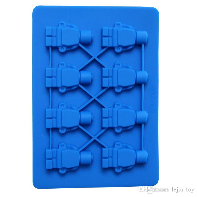 Soap Mould Building Block Robot Fondant Sugarcraft Molds Liquid Silicone Mold Cake Decor Pastry Baking Tools