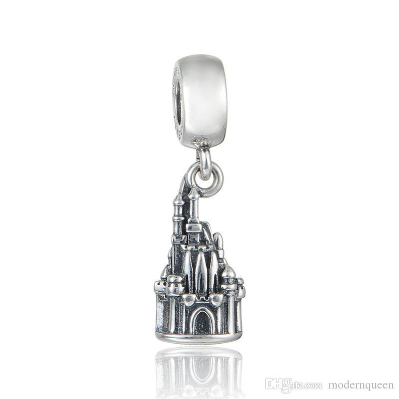 Charms castle pendants S925 sterling silver fits for pandora style charm bracelets aleCH633H9