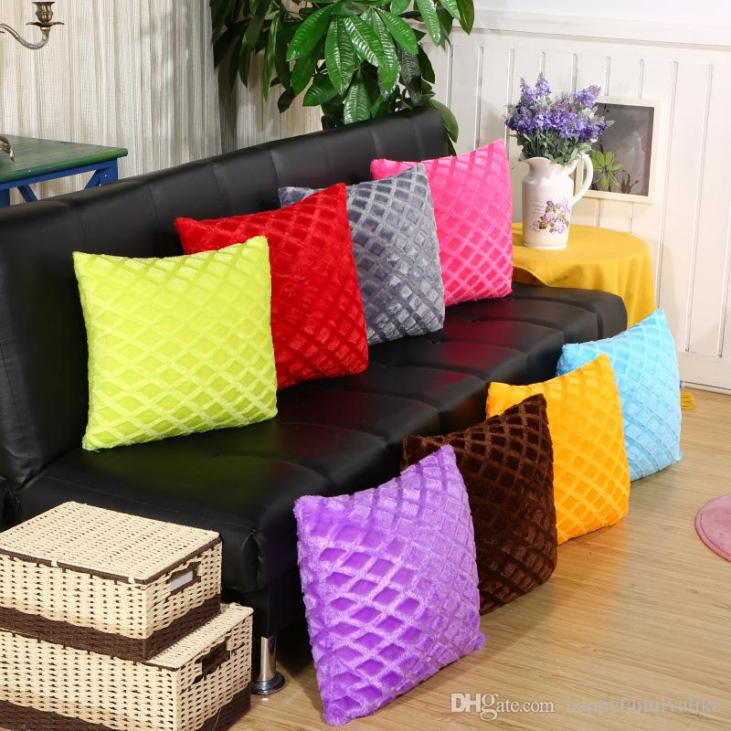 Wholesale Blanks Cover Pillow Cases Pillow Covers Living Room Sofa Fleece Pillows  Covers Pure Color Backrest Cushion Cover For Home Decor Cushions For Patio  ...
