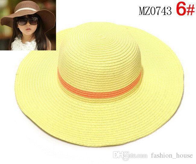 아이들 소녀 모자 비치 모자 아기 소녀 태양 모자 캡 7 색