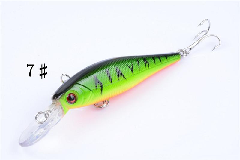 Neue PS Painted Laser Minnow Fischköder 10 cm 9,6 g Süßwasserfischen Seicht Tauchen Bionic Künstliche wobbler locken Haken