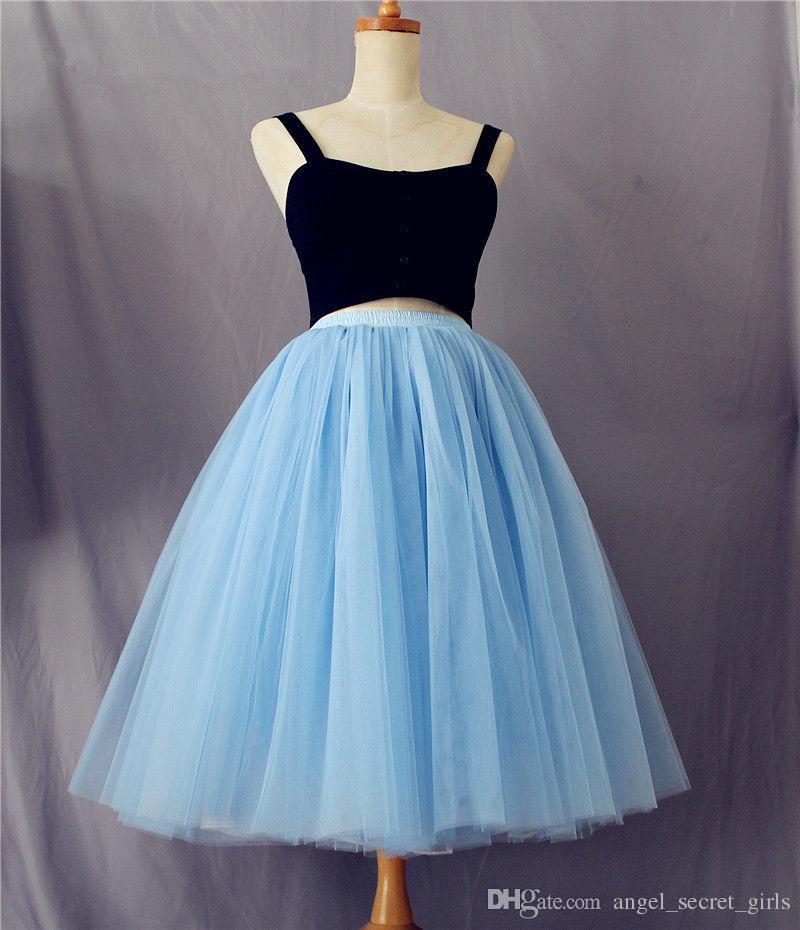 7 Katmanlı dantel Uzun Tül Etek Ünlü Elbise bayan Yetişkin Tutu Balo balerin etek muhteşem zarif etek elbise etek