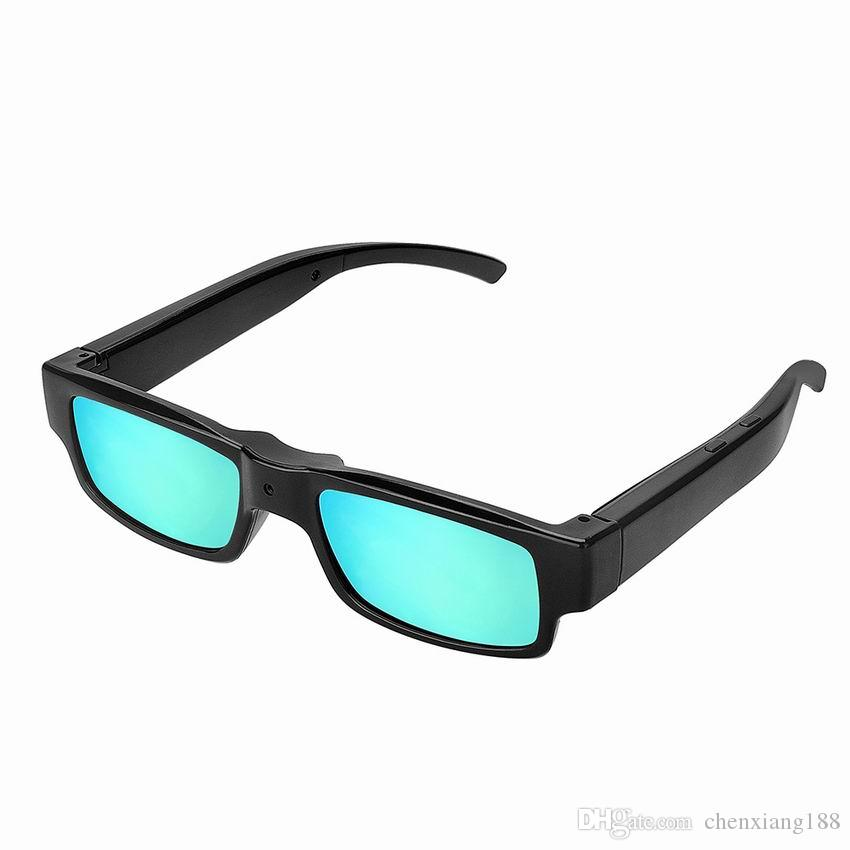 New Fashion Colorful HD 1080P Sunglasses Camera Audio Video Recorder Blue Glasses Mini Camera Digital DVR USB Disk Camcorder