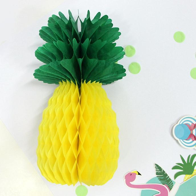 Summer Party Pineapple Shape Honeycomb Decoration Pineapple Garland - Honeycomb pool table