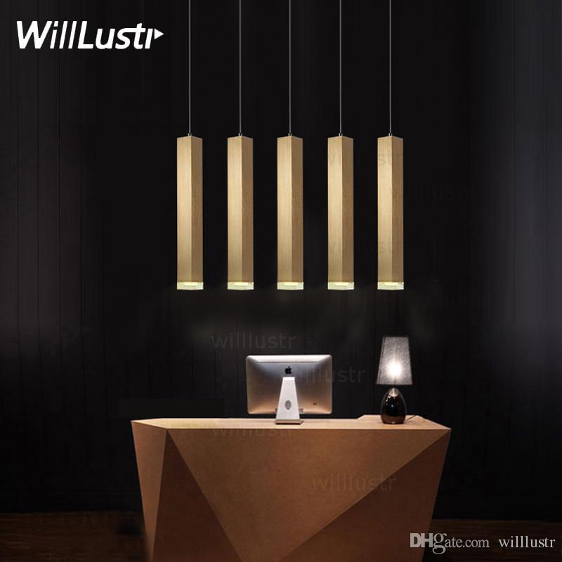 modern led pendant lamp aluminum suspension lighting hanging cuboid