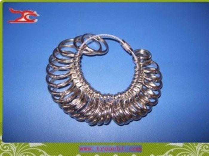 Comercio al por mayor Envío Gratis Plata Japonés EE. UU. Anillo Sizer Gauge Útil Estándar de Metal Joyería Tamaño Medición de Dedo Sizer Tool Equipment