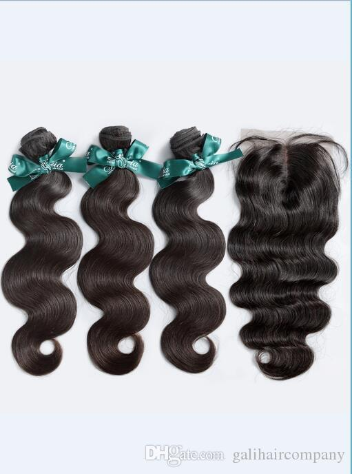 Cheap 8A High Quality Brazilian Body Wave with Silk Base 4*4 Lace closure No Tangle No Shedding Soft Full Free Shipping Fee Hair Extenstion