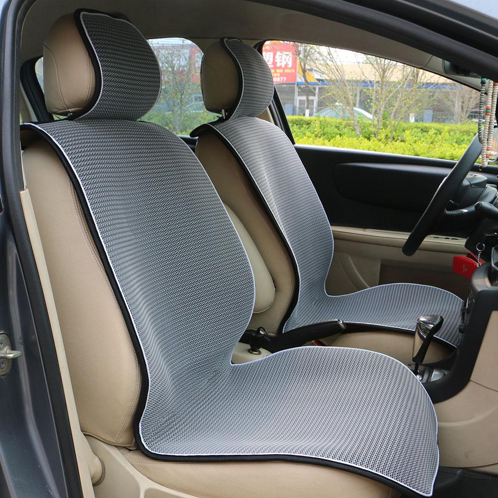 Breathable Mesh Car Seat Covers Pad Fit For Most Cars Summer Cool Seats Cushion Luxurious Universal Size Leather