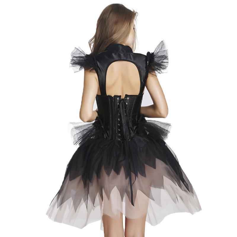 New Arrival Hot Sale Corset Dress Fairy Elegant Lace Sexy Black Training Corset Vintage Plus Size Shaper Sexy Lingerie With Bow W46245