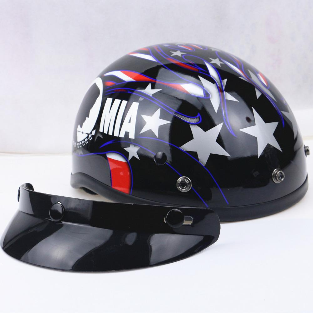 Harley motorcycle helmet cacos moto half helmet dot certification see larger image xflitez Gallery