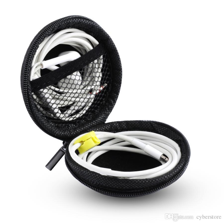 Zipper Sac Ecouteurs Câble Mini Box SD Carte Portable Porte-Monnaie Casque Sac De Transport Housse De Poche Etui Couverture De Stockage Bluetooth Casque