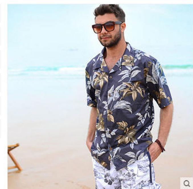 dc557f929523a 2019 Wholesale 2017 Mens Beach Shirts Cotton Short Sleeved Plus Size Man  Casual Holiday Hawaiian Shirt Male Summer Clothing Hawaii Shirt K30 From  Vanilla04