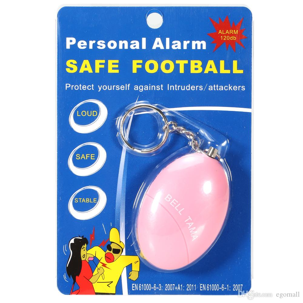 Alarme Pessoal Tama Alto, Seguro, Estável 120 Decibéis Mini Keychain Alarme Seguro Futebol Panic Anti Estupro Ataque Segurança Segurança