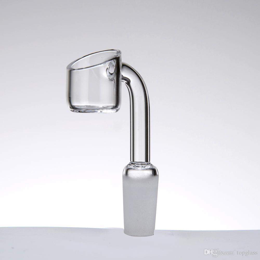 2mm de espesor Quave Quartz Club Banger Nails Domeless 90 grados 10mm 14mm 18mm Male Female Joint para tubos de agua de vidrio dab plataformas petroleras