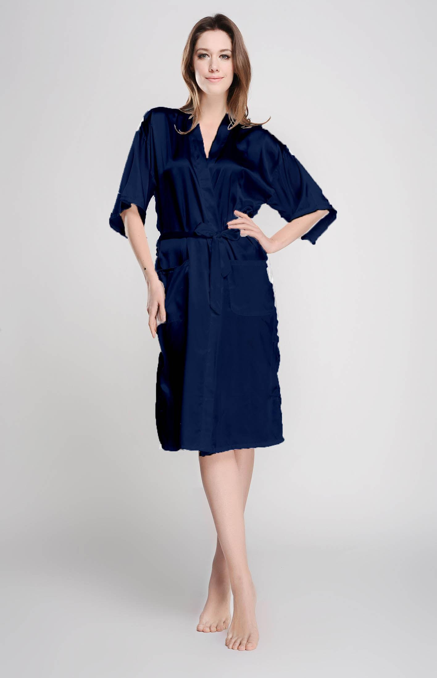 2019 Navy Kimono Robe Inexpensive Bridesmaid Gift Monogrammed Bridesmaid Robe  Silk Robe For Women Satin Robe Bridal Party Wedding Dress RC1 From  Jennygreen 460afd835
