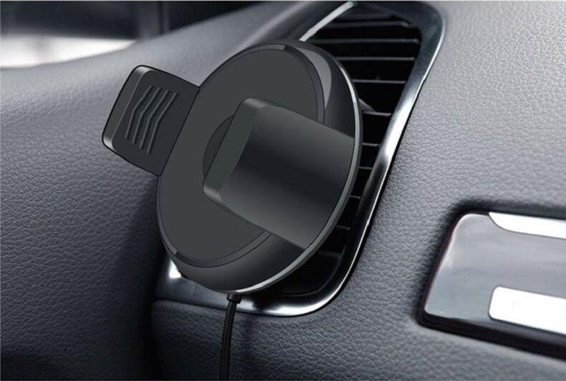 Caricabatteria da auto senza fili Caricatore wireless auto Qi Magnetic Rotation da 360 gradi iPhone X 8 plus Samsung S8 Plus S7 Nota 8