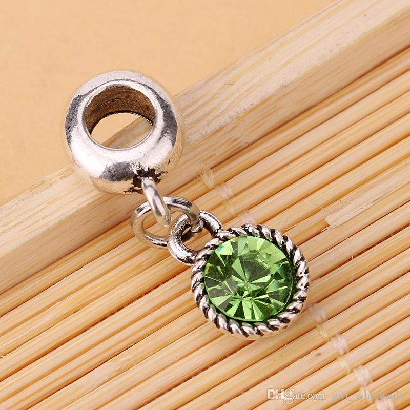 HOT SALE: DIY Crystal Rhinestone Round Dangle Bead Fit Charm European Bracelet