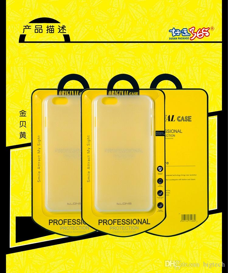 Wholesale Cardboard With Plastic Crystal Packaging For Phone Case Retail Packing Box For iPhone Samsung HTC