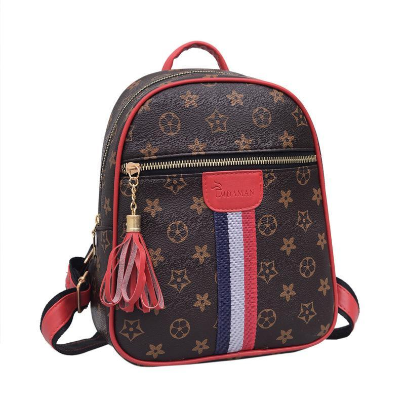 Luxury Backpacks Handbags PU Leather Women Designer Brand Flower Elegant  Fashion Preppy Style School Backpack Travel Bag High Quality Boys Backpacks  ... 756803c35e398