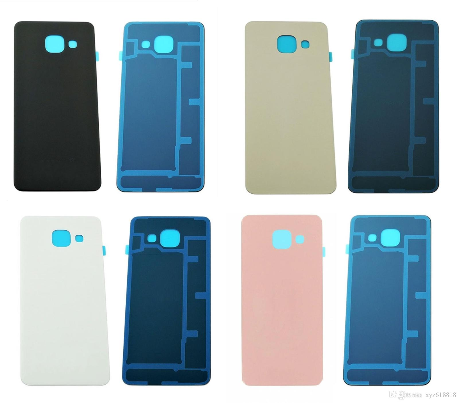 DHL Shipping Original New Replacement Glass Battery Door for Samsung Galaxy A310 A3 2016 A310F Back Cover Housing Rear Case with stickers