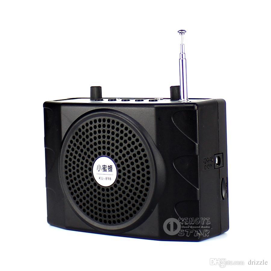 مكبر الصوت في الهواء الطلق المحمولة السلطة مكبر للصوت المتكلم مصغرة USB TF بطاقة راديو FM مشغل موسيقى MP3 مكبر الصوت سماعة الميكروفون