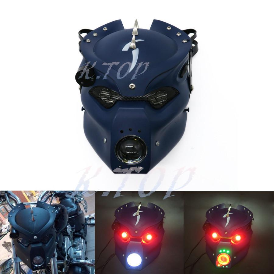 2019 Blue Motorcycle Led Skull Head Light Headlight Lamp With Mount Wiring From China Bestselling Bracket For Harley Honda Yamaha Kawasaki Suzuki Custom Ruxiantrading