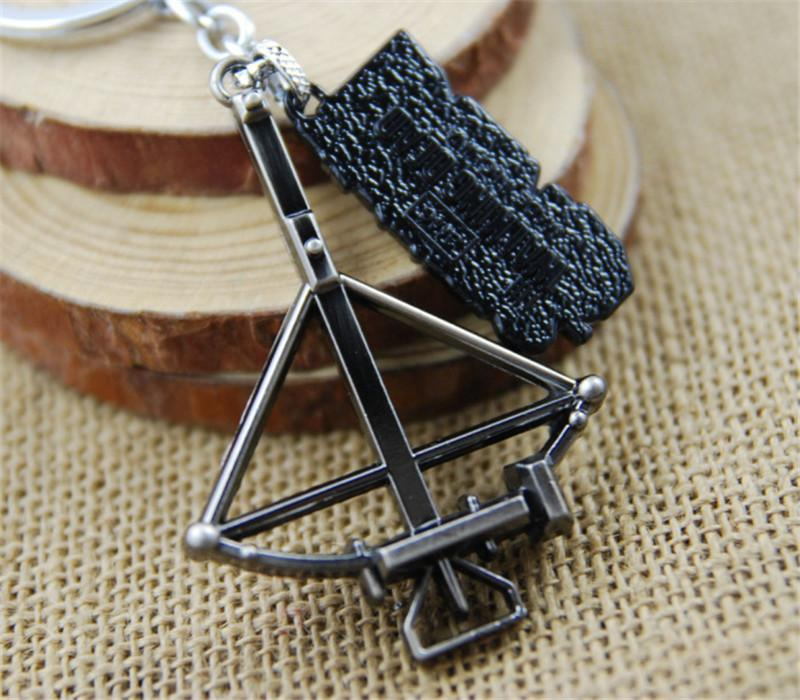 Retail Pack Walking Dead bow pendant Keychain key rings bag hangs pendants for women men keyring keychains jewelry 170460
