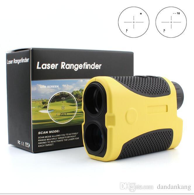 600m Mini Handheld Monokularer Laser Rangfinder Teleskop Range Finder Entfernungsmesser Golf Laser Rangfinder Jagdmessung Werkzeug
