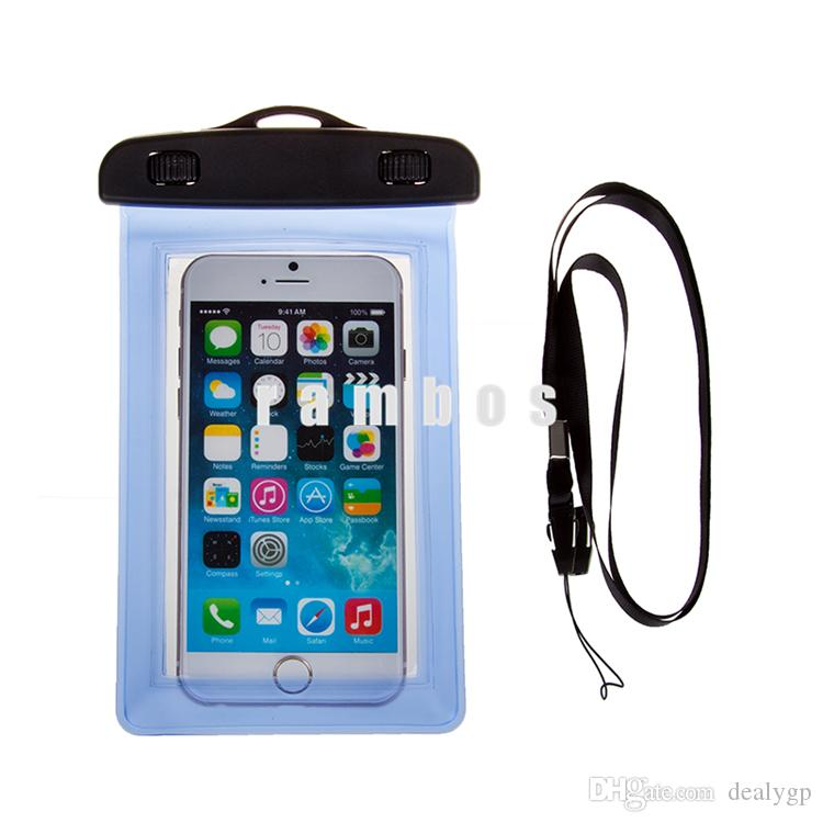 S5 case Waterproof bag Case Dust-proof Smart Phone Bag Pouch with Neck strap for Samsung Galaxy S3/s4/s5