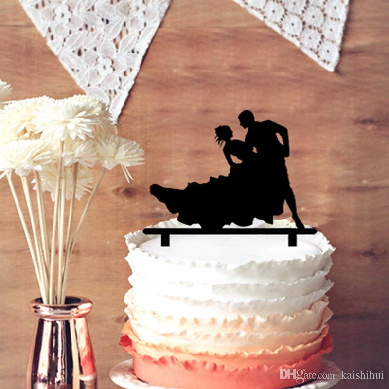 Romantic Wedding Anniversary Cake Toppers Bride And Groom Dance