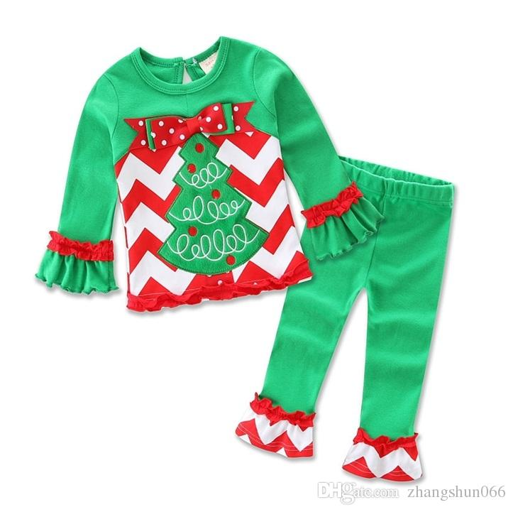 381d0e992c 2019 2016 Xmas Boys Girls Baby Childrens Clothing Sets Christmas Tree Cotton  Long Sleeve Tops Pants Santa Spring Autumn Kid Clothes Outfits From ...