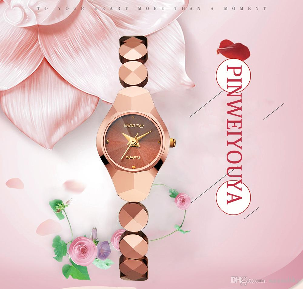 NEW Girlfriend Birthday Gift Champagne Bracelet Watches Top Luxury Steel Bangle Lady Quartz Waterproof Wrist Watch Fashionable Women Clock Sale
