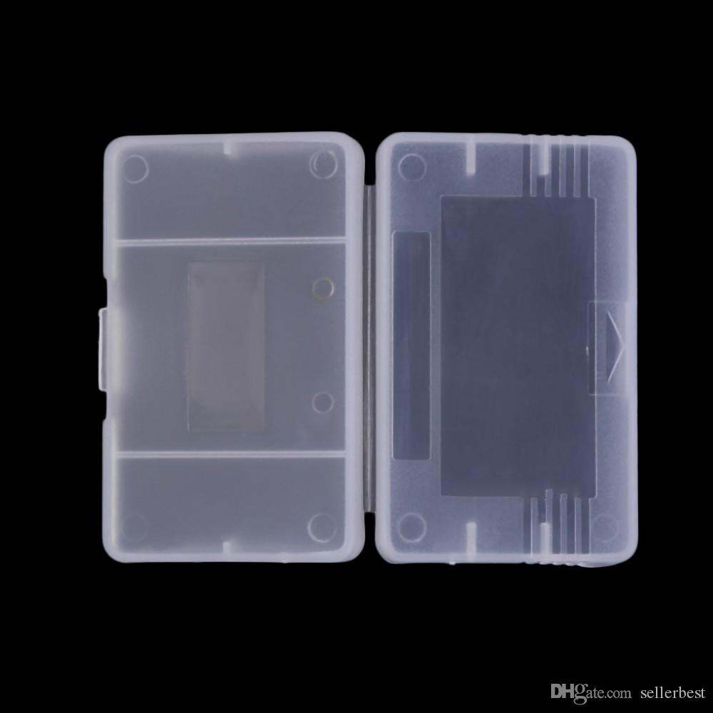 명확한 플라스틱 게임 카트리지 상자 케이스 저장 상자 보호자 홀더 Nintendo Game Boy Advance GameBoy GBA를위한 먼지 덮개 교체 쉘
