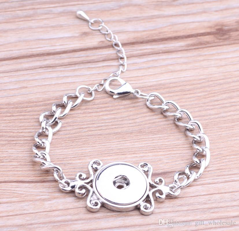 2020 Metal personality Snap Button Charm Bracelet Interchangeable Jewelry Ginger Snaps Jewelry Fashion DIY jewelry for women