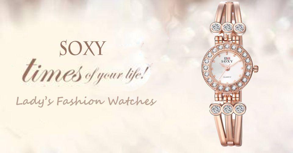 Fine New Style Geneva Bling Crystal Women Girl Unisex Stainless Steel Quartz Wrist Watch