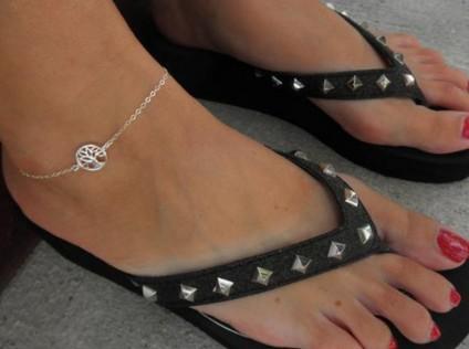 Boho joyería sexy mujer tobilleras para mujer joyería respetuosa con el medio ambiente pequeñas pulseras treeankle encantos para pulseras