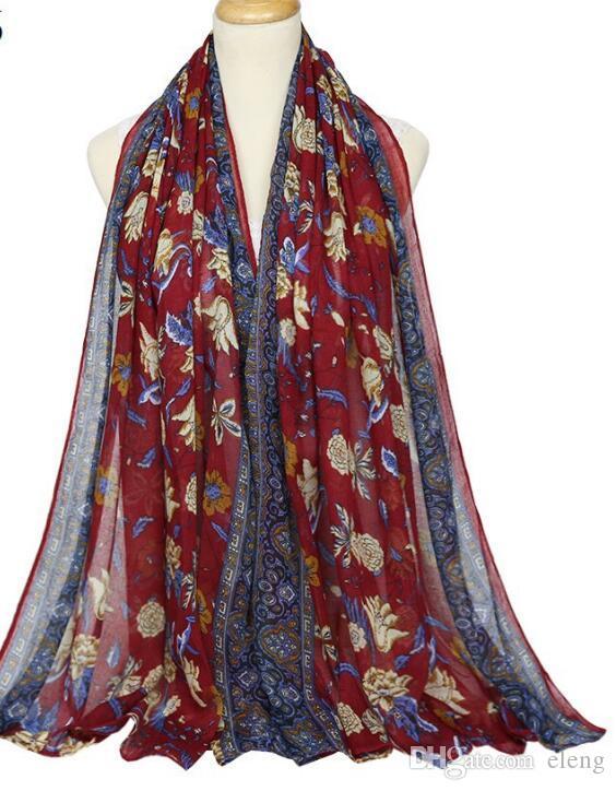 Nouvelle marque écharpe femmes l automne et l'hiver voile Petite fleur cassée luxe écharpe wraps foulard de designer écharpes pour les femmes 180 * 90cm 91