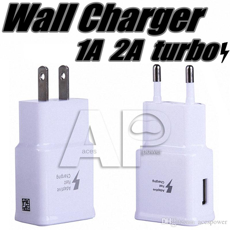 5V 2A USB Wall Fast Charger Turbo Adapter Charging 2A EU US Plug For Samsung Galaxy S9 S8 Plus Note8 Note 8 Fast