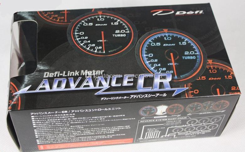 "2.5""60mm White and Amer lighting color Defi boost guage/turbo gauge/auto gauge/car meter/tachometer"