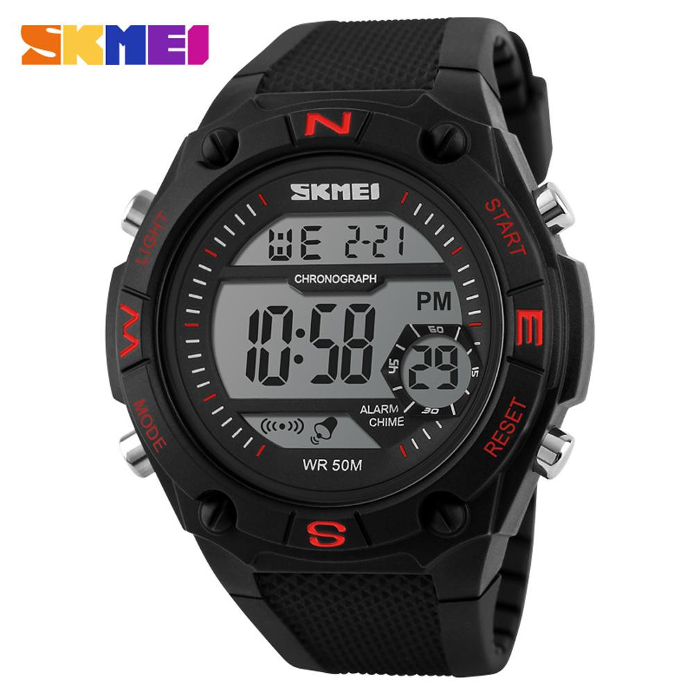 Original SKMEI 1093 Men'S Sport LED Digital Waterproof Military Calendar  Rubber Strap Multifunction Wrist Watch Cheap Watches Digital Watches From  ...