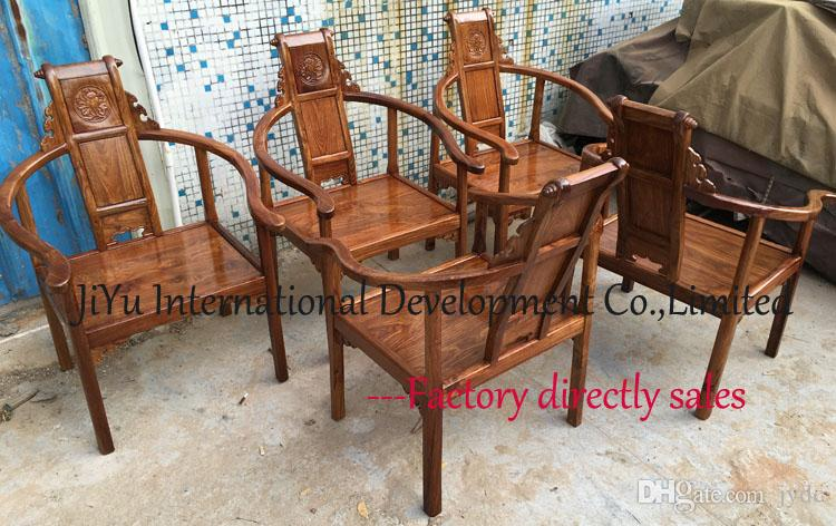 Luxury wood armchair home siting furniture living room casual tea chairs in 100% African Red sandalwood