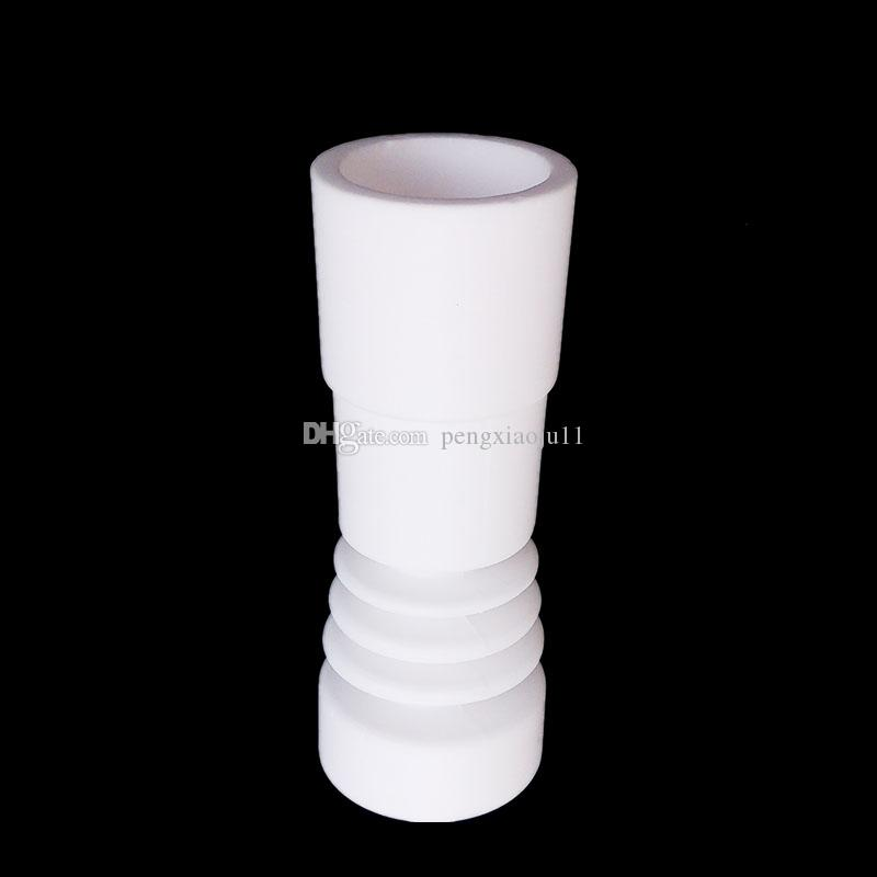 14mm & 18mm Male Ceramic Nail Glass Bong Tool Set With Ceramic Carb Cap Tool Slicone Jar Container VS Titanium Nail