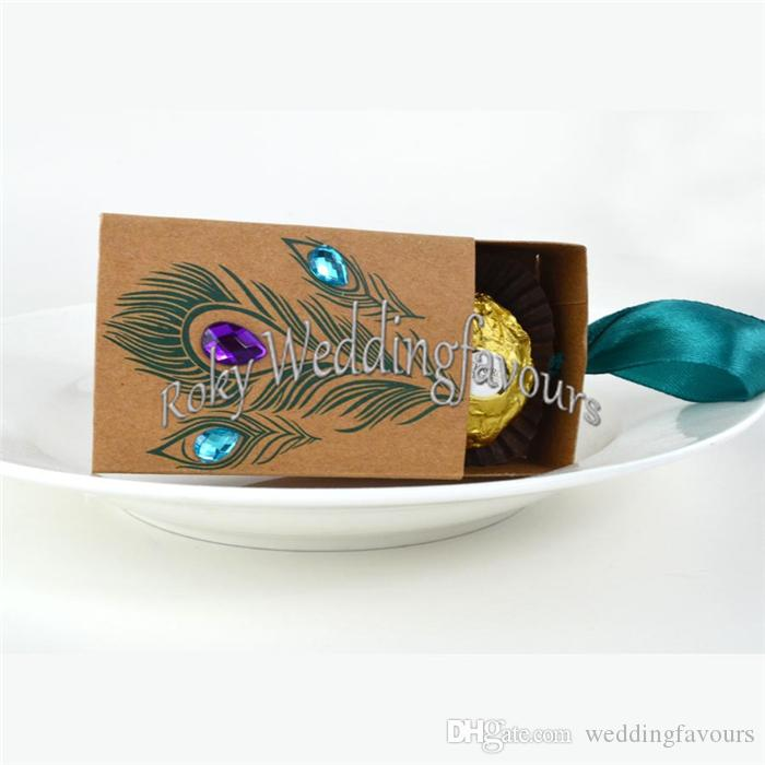 FREIES VERSCHIFFEN Großverkauf Jeweled Pfau-Kraft Süßigkeits-Kasten-Hochzeits-Süßigkeit-Füller-Gastgeschenke Andenken-Partei-Tabellen-Einstellungs-Paket